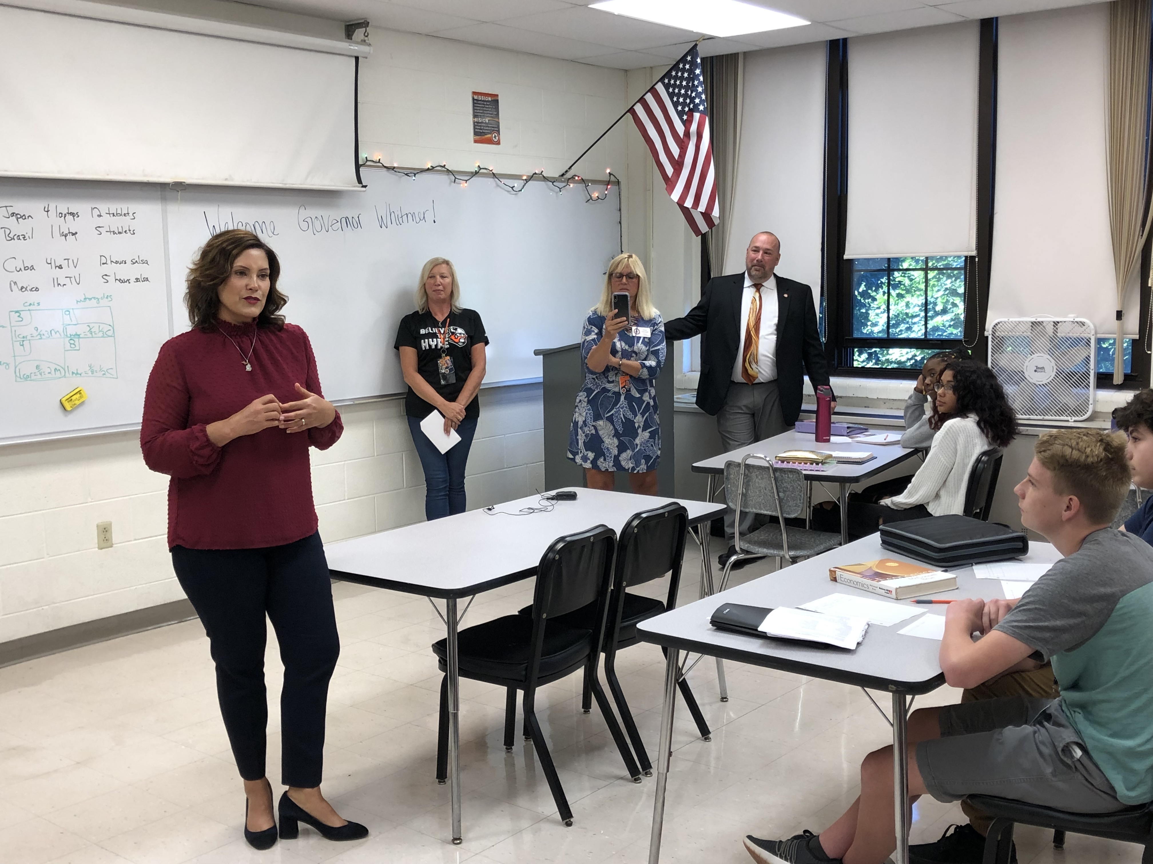 Whitmer Pushes for Real Budget Solutions at Jackson School Visit
