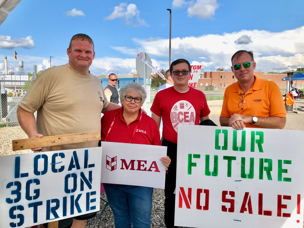MEA President stands in solidarity  with striking Kellogg workers